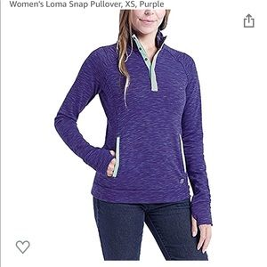 NWT avalanche loma snap pullover sweater 1/4 zip